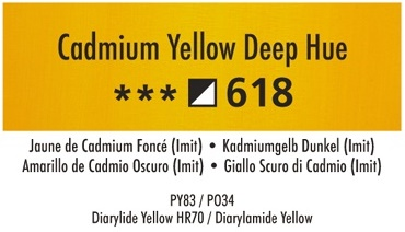 Daler Rowney Georgian 618 Kadmiumgelb Dunkel / Cadmium Yellow Deep Hue 37 ml Wassermischbare Ölfarbe
