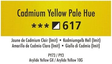 Daler Rowney Georgian 617 Kadmiumgelb Hell /  Cadmium Yellow Pale Hue 37 ml Wassermischbare Ölfarbe
