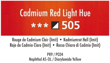 Daler Rowney Georgian 505 Kadmiumrot Hell /  Cadmium Red Light Hue 37 ml Wassermischbare Ölfarbe