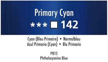 Daler Rowney Georgian 142 Normalblau /  Crimson Primary Cyan 37 ml Wassermischbare Ölfarbe