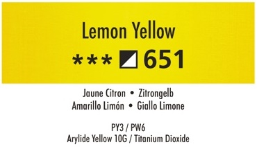 Daler Rowney Georgian 651 Zitronengelb / Lemon Yellow 37 ml Wassermischbare Ölfarbe
