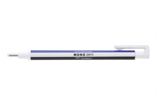 Tombow MONO zero / weiß/blau/schwarz - runde Spitze ∅ 2,3mm