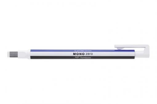 Tombow MONO zero / blau/weiß/schwarz - eckige Spitze  2,5mm x 5mm