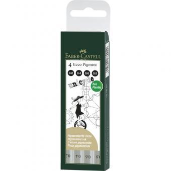 FABER CASTELL Ecco Pigment 4er Set 0.2mm,0.4mm,0.6mm,0.8mm