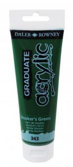 Daler-Rowney Hooker's Grün 343 Graduate acrylic 120ml