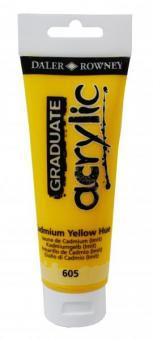 Daler-Rowney Kadmiumgelb 605 Graduate acrylic 120ml