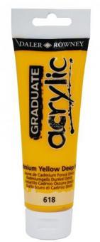 Daler-Rowney Kadmiumgelb Dunkel 618  Graduate acrylic 120ml
