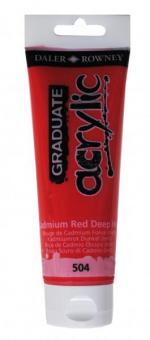 Daler-Rowney Kadmiumrot Dunkel 504 Graduate acrylic 120ml
