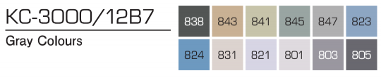 Kurecolor Twin S- Gray Colours 12er Set