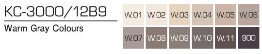 Kurecolor Twin S- Warm Gray Colours 12er Set