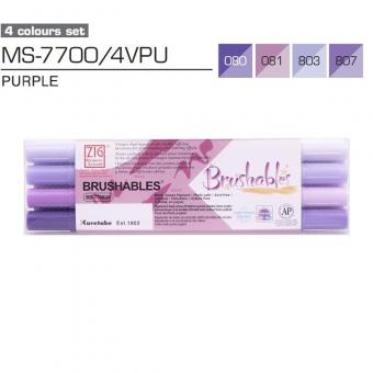 Kuretake ZIG Brushables Purple 4er Set