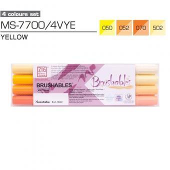 Kuretake ZIG Brushables Yellow 4er Set