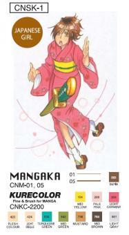"""Kuretake Manga Starterset """"Japanese Girl"""""""