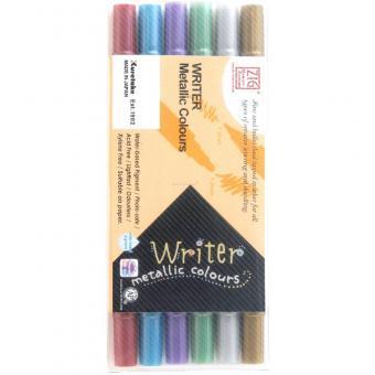 Kuretake ZIG WRITER METALLIC - 6 colours set