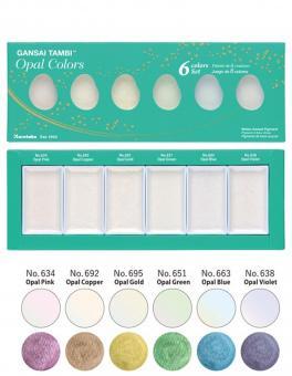Kuretake ZIG GANSAI TAMBI - Opal Colors