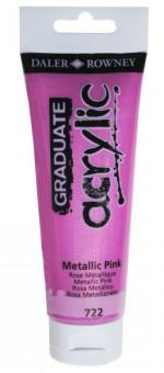 Daler-Rowney Metallic Pink 722 Graduate acrylic 120ml