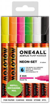 Molotow ONE4ALL™ 127HS Neon Set 1 2mm