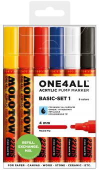 Molotow One4ALL™ Twin 4mm 227HS Basic Set 1