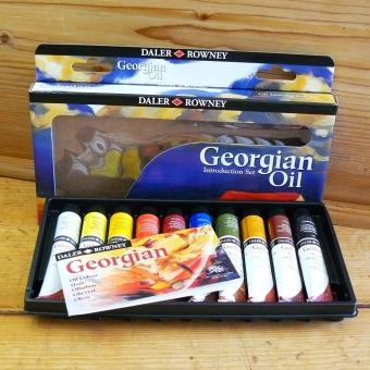 Daler-Rowney Georgian Ölfarbe Introduction-Set 10 x 22 ml