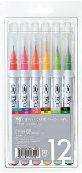 Kuretake ZIG Clean Color Real Brush 12 colours set