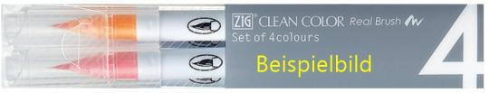 Kuretake ZIG Clean Color Real Brush Pure Colours 4er set