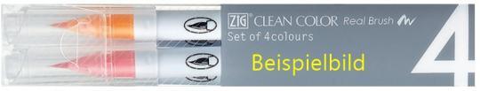 Kuretake ZIG Clean Color Real Brush Deep Colours 4er set