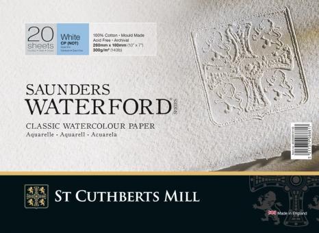 Saunders Waterford Block, 20 Blatt, rundum geleimt, 31 x 23 cm