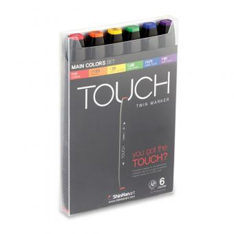 Touch Twin Marker  6er Set main colors