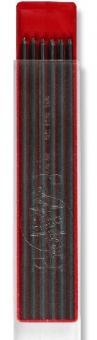 Graphitmine Ø 2mm, 120mm lang, 12er Set, Härtegrade 8B-10H