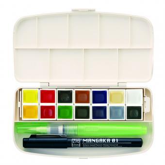 Kuretake ZIG GANSAI TAMBI - 14 colours portable set