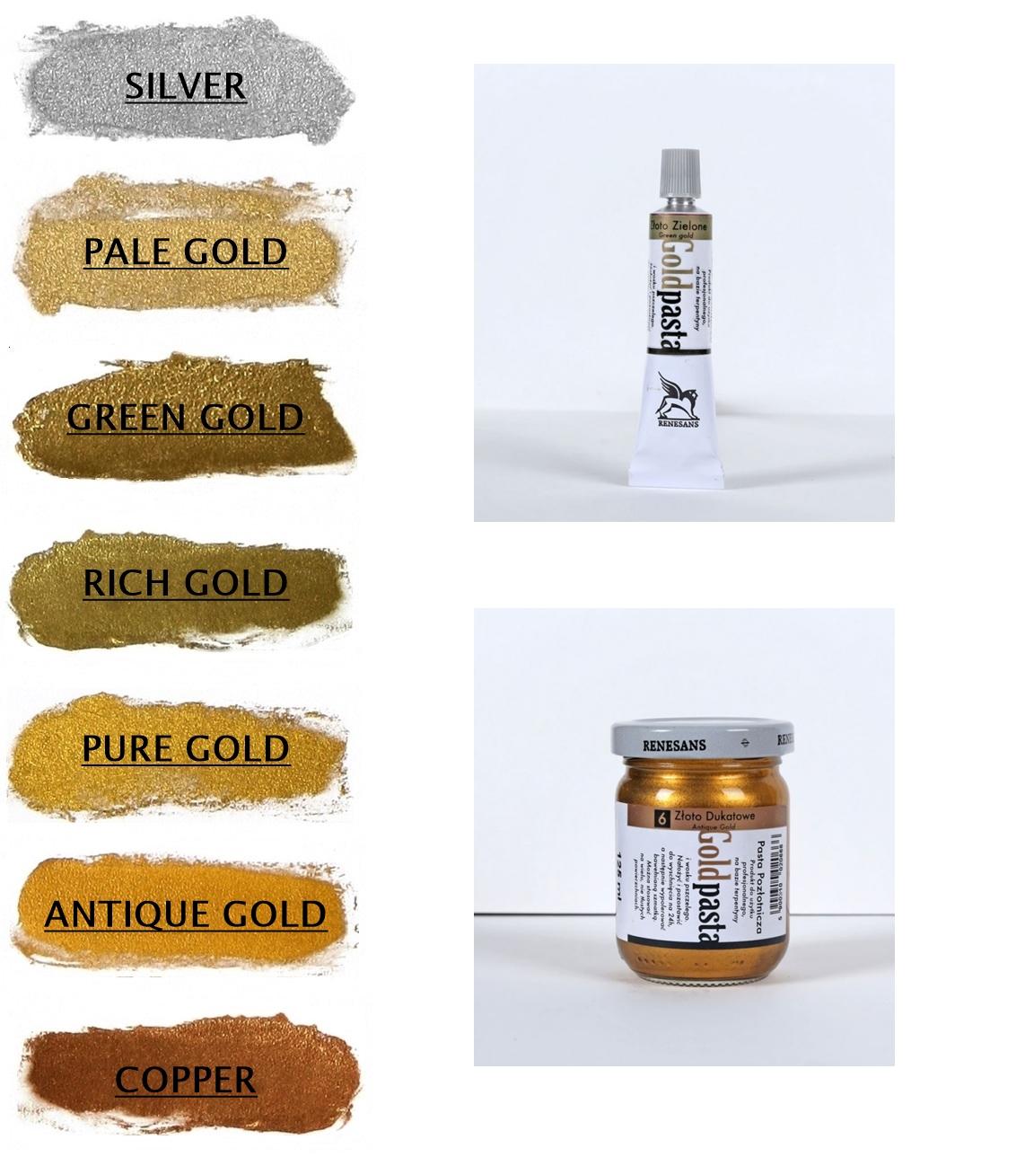 Billigermalen Renesans Goldpasta Goldpaste Goldfarbe